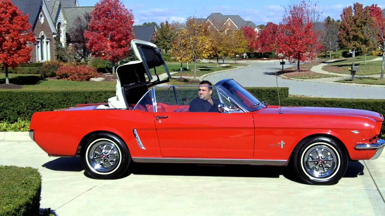 1965 ford mustang convertible 289 classic muscle car for sale in mi vanguard motor sales youtube