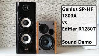 Genius SP-HF 1800A vs Edifier R1280T  ||  Sound Demo