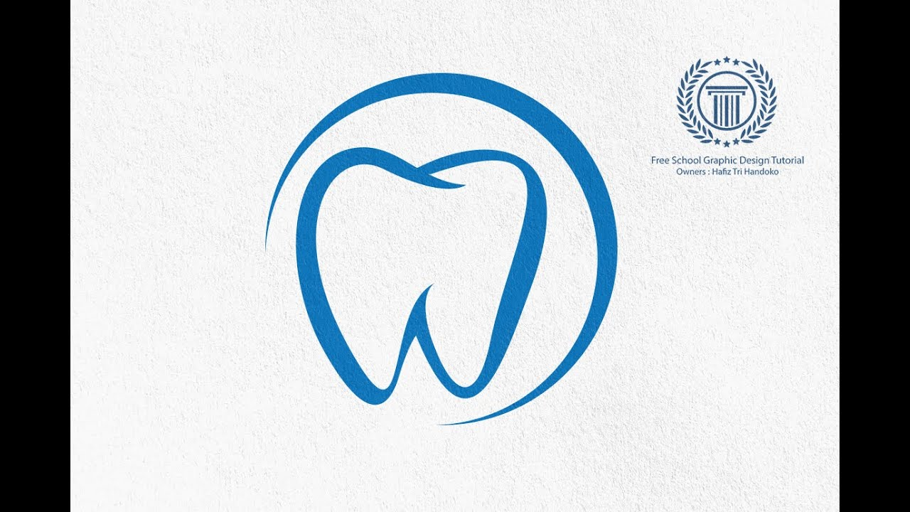 Dental logo design illustrator tutorial for beginners | No ...