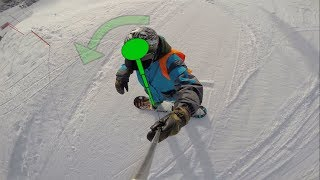 How to snowboard for beginners lessons 1 to 3 video - goofy - SnowboardABC