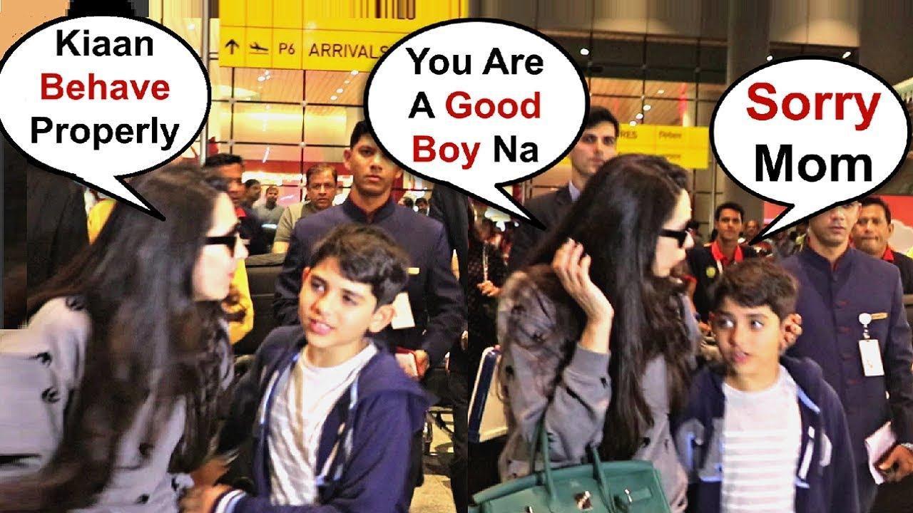 Karishma Kapoor Shouts At Son Kiaan For Throwing Tantrum At Airport