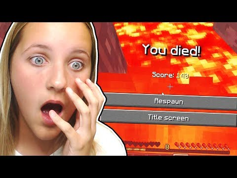 PLAYING MINECRAFT WITH MY SISTER (12 year old)