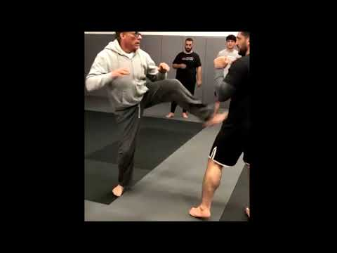 Jean-Claude Van Damme - Training with MMA fighters (2020)