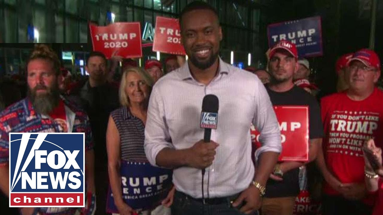 Jones speaks to Trump supporters outside Orlando rally