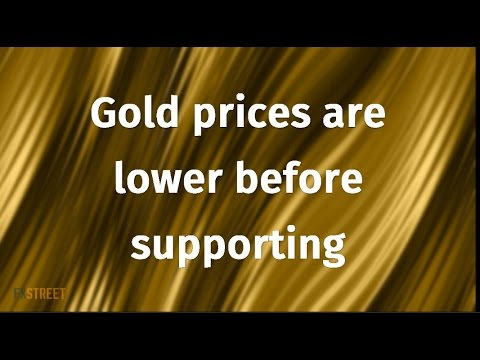 Gold prices are lower before supporting