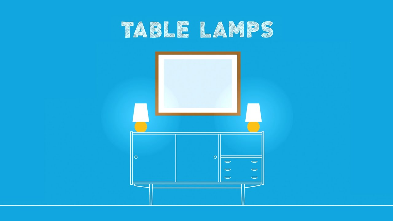 Types of table lamps how to choose youtube Types of table lamps
