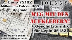 Bedruckte Steine für  Lego 75192 Millenium Falcon UCS + Geschützkuppelfix für den Lepin 05132