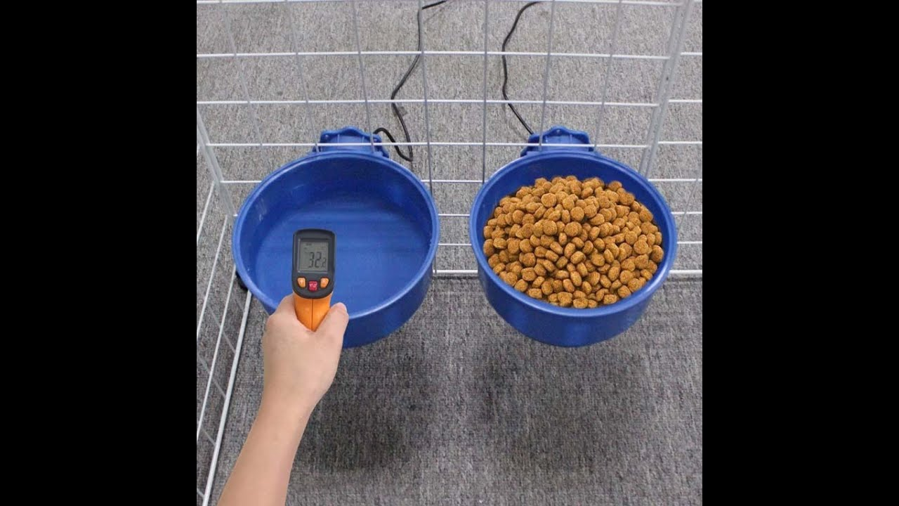 Cat and Dog Food Plate Hanging Constant Temperature And Heat Preservation Water Bowl Heating Bowl