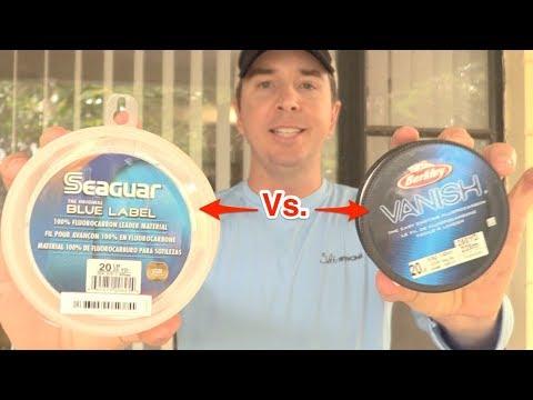 Berkley Vanish Vs Seaguar Blue Label Knot Strength Test
