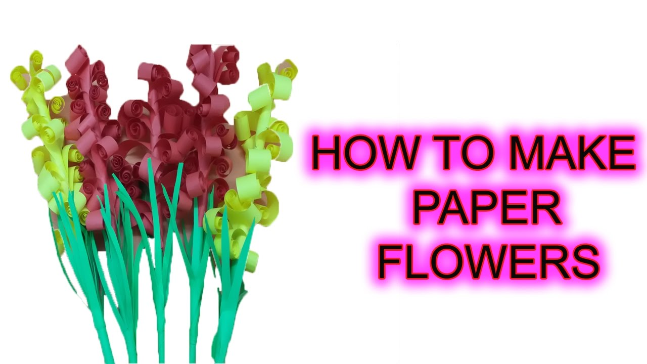 Origami flowers for beginners how to make paper flowers youtube origami flowers for beginners how to make paper flowers dhlflorist Choice Image