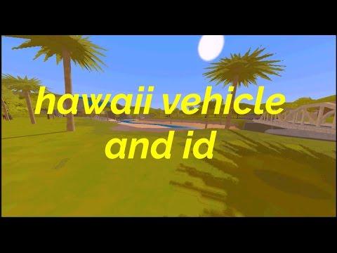 unturned HAWAII VEHICLE AND ID