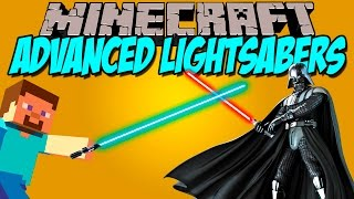 ADVANCED LIGHTSABERS MOD - Las espadas láser de Star Wars - Minecraft nid 1.7.10 Review ESPAÑOL thumbnail