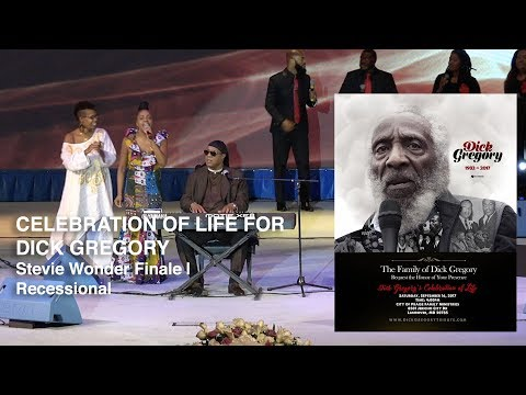 Dick Gregory Celebration of Life  - Stevie Wonder (HD)