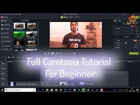 Full Camtasia Tutorial For Beginner ✂ Edit Youtube Videos in Camtasia ✂ Hindi Tutorial 2018-19