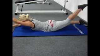 Тренировка мышц спины при сколиозе(Последовательное выполнение различных упражнений для мышц спины. 30 секунд - выполнение упражнения, 10 секун..., 2012-07-21T00:56:51.000Z)
