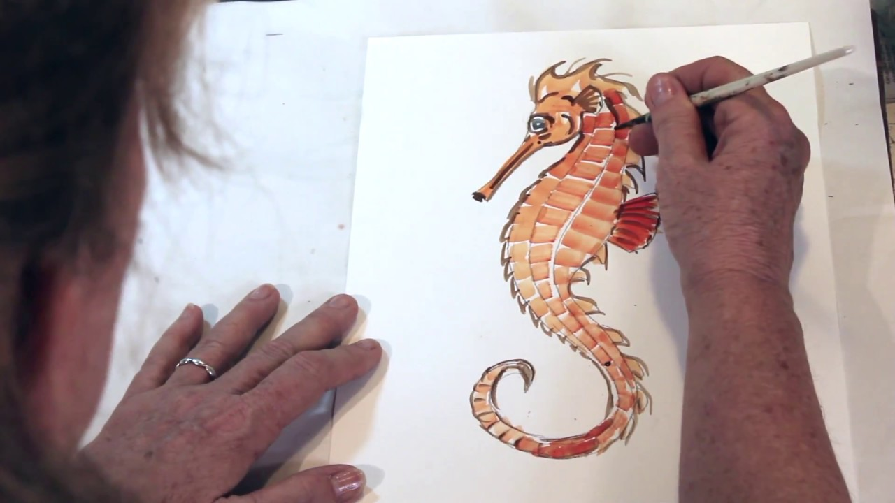 How to draw a seahorse the easy way youtube for How to draw a simple seahorse