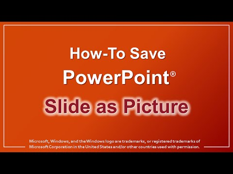 Turn powerpoint slides into pictures