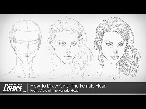 how-to-draw-girls:-the-female-face-|-front-view-of-the-female-head