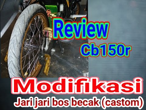 Modif motor cb 150r TROMOL BECAK( CUSTOM ) MINIMALIS  JARI JARI STYEL