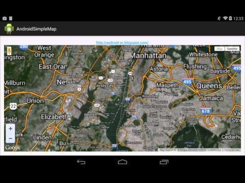 Embed Html Using Google Maps JavaScript API V3 In Android App