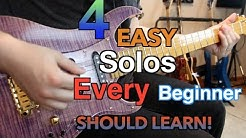 4 Easy Solos Every Beginner Should Learn Today! ( With Tabs)