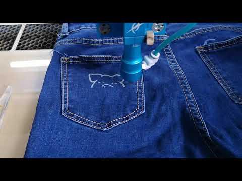 laser engraving on jeans/denim. https://aourl.me/s/76518n9
