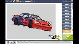 How to Draw a NASCAR Race Car