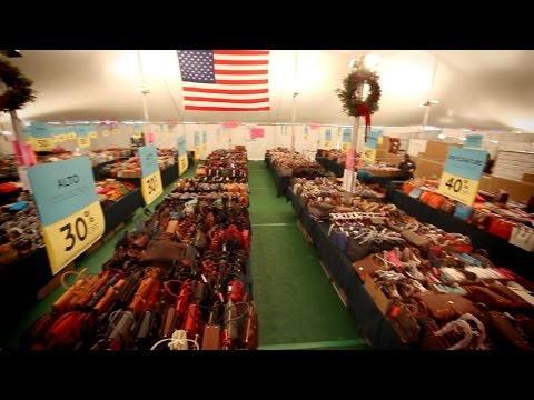 Take a peek inside the 2016 Dooney & Bourke Tent Sale in Norwalk, CT. See more at dooney.com/tent