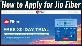 How to Apply for Jio Broadband Connection | How to Apply for Jio Fiber | Jio Fiber New Connection
