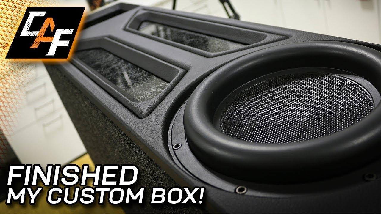 Transmission Line Subwoofer Box Final Upholstery Youtube