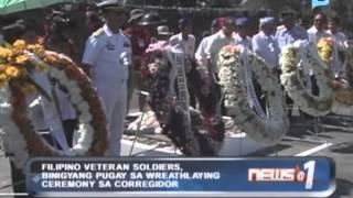 Filipino veteran soldiers, binigyang pugay sa wreathlaying ceremony sa Corregidor
