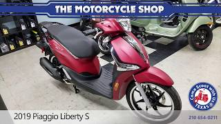 New 2019 Piaggio Liberty S Red motor scooter