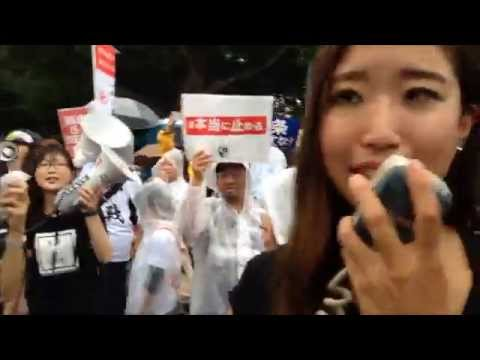 Deron Report #9, August 30, Massive protest against security bills 安保関連法案反対全国デモ