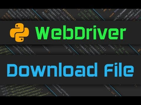 Selenium Webdriver - Download File