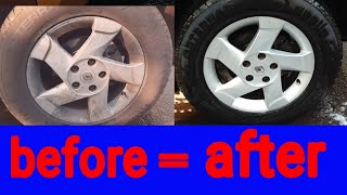 Simple way to clean tire