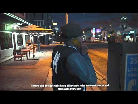Grand Theft Auto 5 Part 53-The Bus Assassination