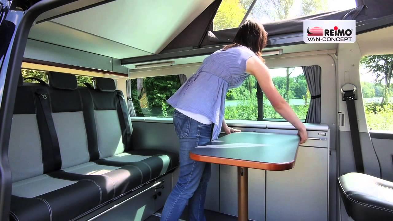 Ford Transit Van >> Campingbus Reimo CityVan auf VW T5 - YouTube