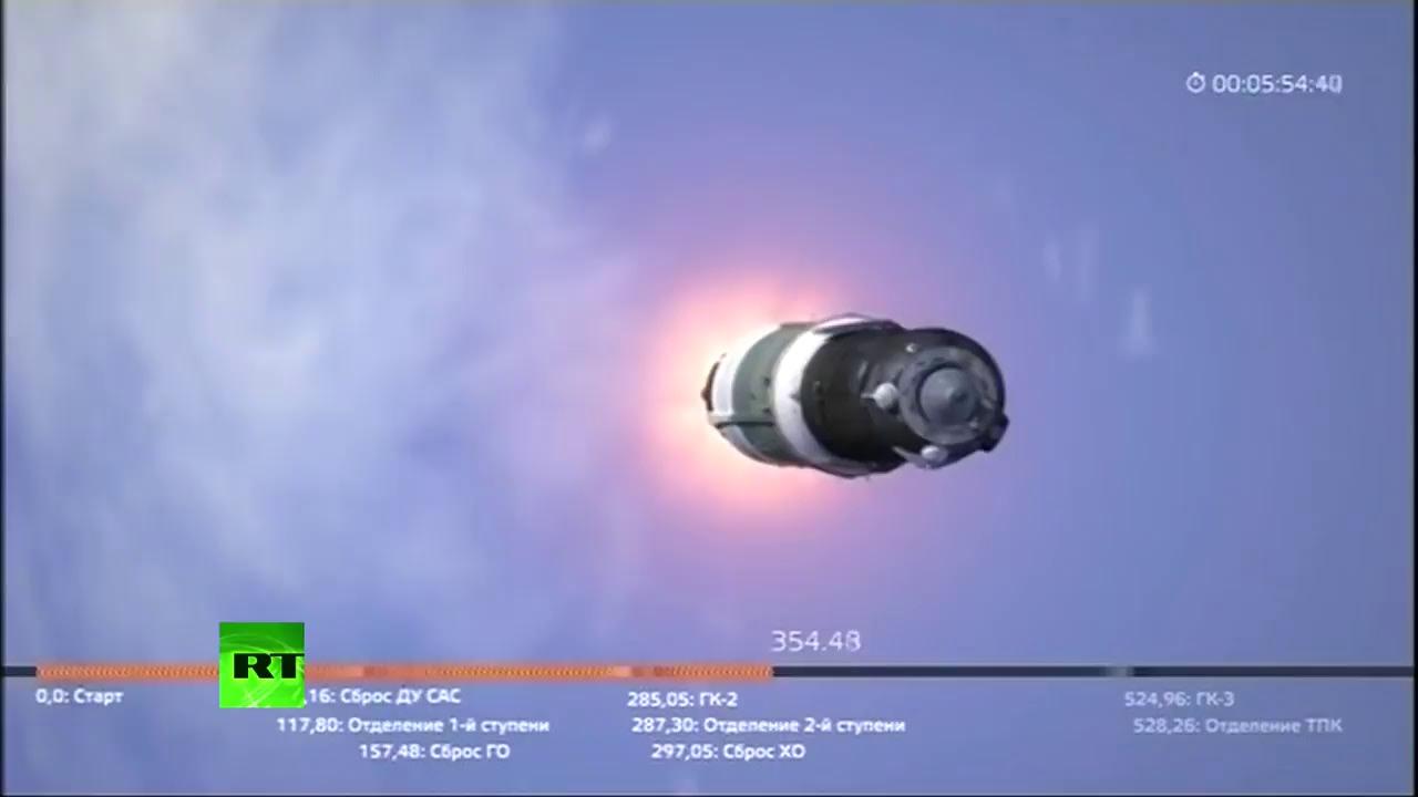 Запуск корабля «Союз» к МКС