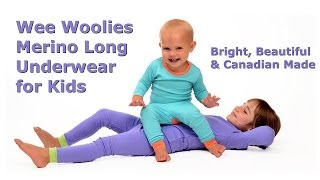 Wee Woolies Merino Wool Long Underwear for Kids: Bright, Beautiful & Canadian Made