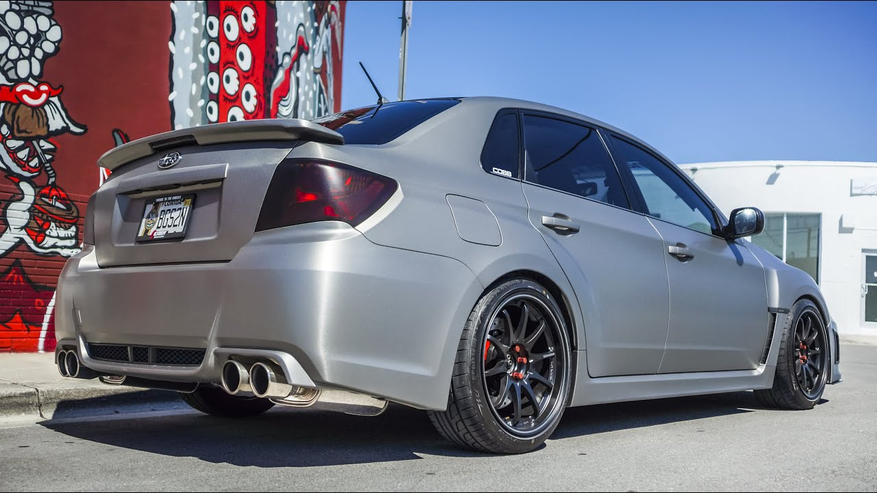 Subaru Sti 3m Brushed Titanium Vinyl Wrap By Florida Car