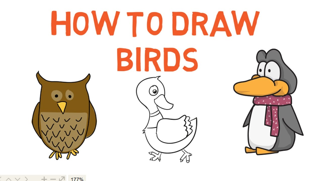 How To Draw A Bird For Kids Bird Drawing Lesson Step By Step