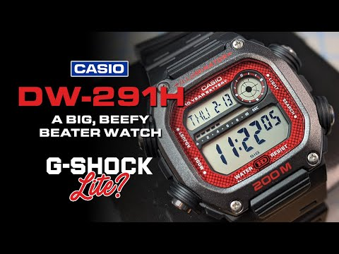 "Casio DW-291H - Check Out This New ""G-Shock Lite."" The Perfect Big, Beefy, Beater Watch!"
