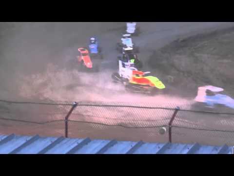 Tim Hodge #5 USAC Midget Bear Ridge Speedway 2014 PART #1