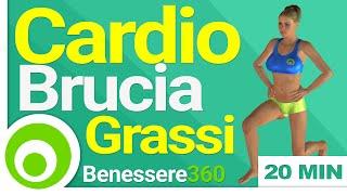 Allenamento cardio brucia grassi: 20 minuti di esercizi per dimagrire a casa