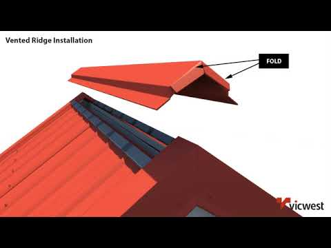 Vented Ridge Installation Video Youtube