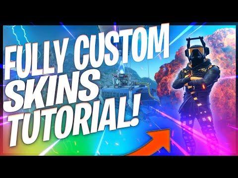 How to make fully custom skins in fortnite (Updated Method!)