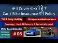 Car & bike Insurance coverage explained. including Third Party & Comprehensive Insurance)