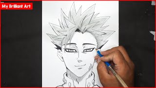 How To Draw Ban Step By Step Seven Deadly Sins - My Brilliant Art