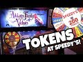 Spin, spin, spin! Arcade Token Games at Speedy's Fast Track!