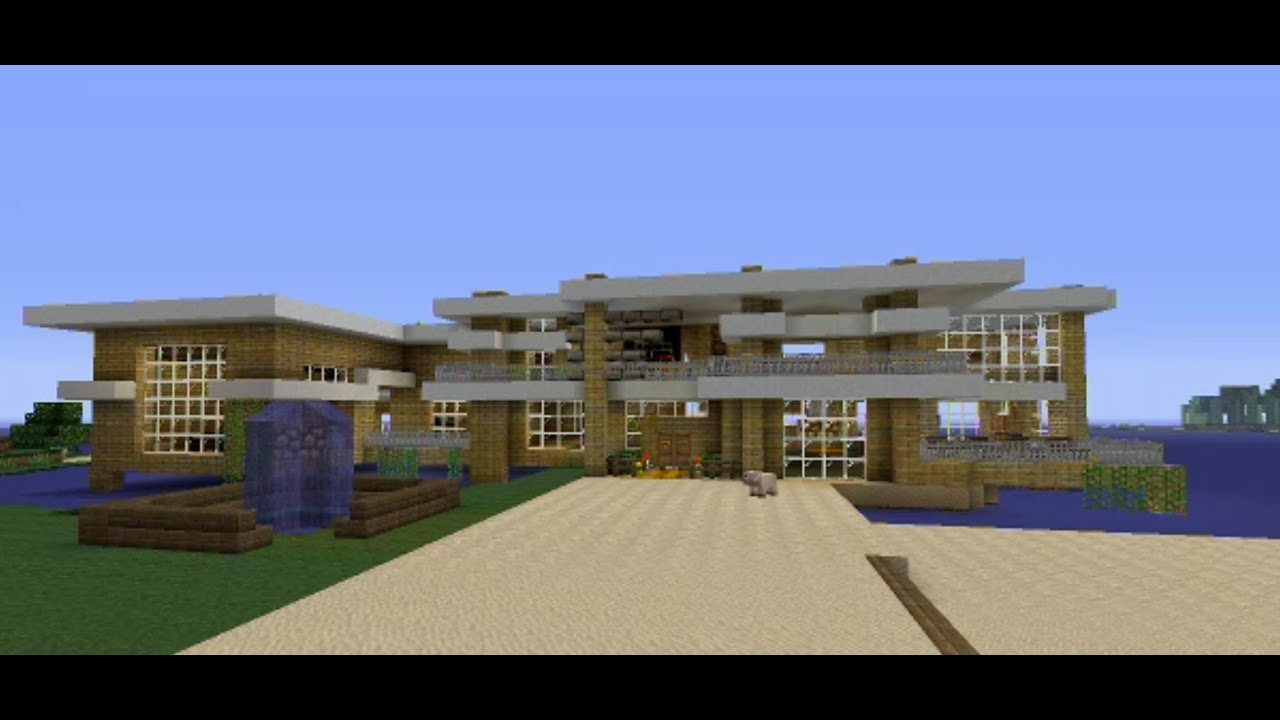 Minecraft xbox 360 modern house tour in hawaii youtube for Modern house xbox minecraft
